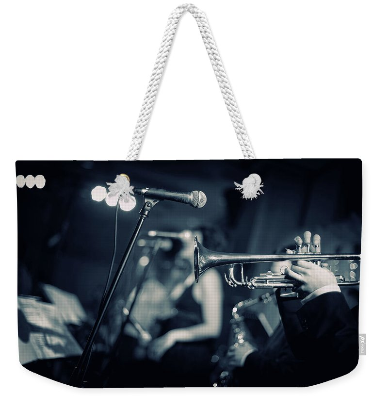 Singer Weekender Tote Bag featuring the photograph Night Club by Tunart