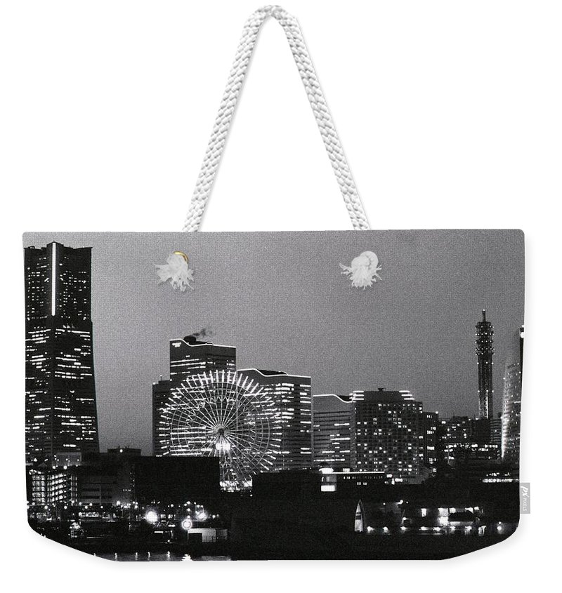 Yokohama Weekender Tote Bag featuring the photograph Night Scene Of Yokohama by Snap Shooter Jp
