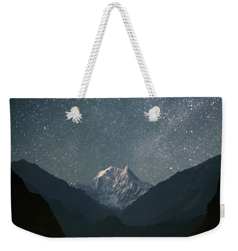Himalayas Weekender Tote Bag featuring the photograph Nilgiri South 6839 M by Anton Jankovoy