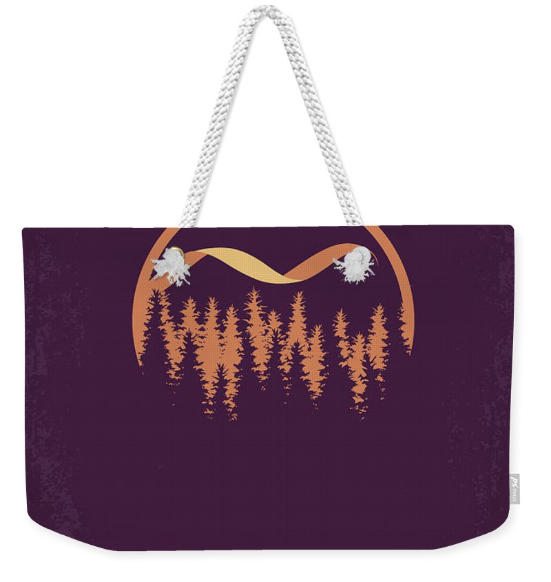 Bella Weekender Tote Bag featuring the digital art No1082 My Twilight 3 Minimal Movie Poster by Chungkong Art