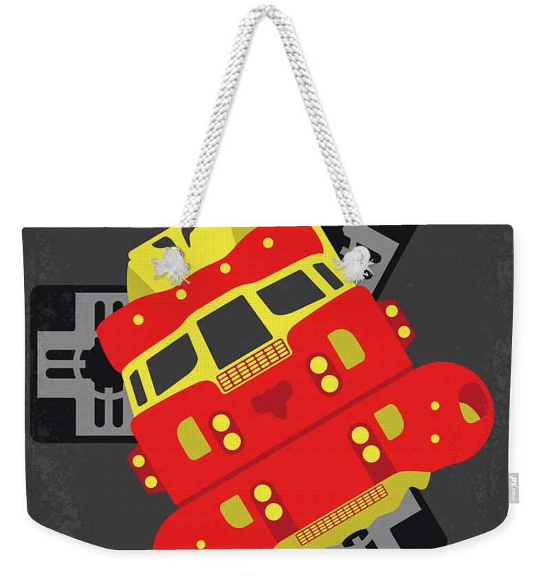 Space Weekender Tote Bag featuring the digital art No1101 My Space Truckers Minimal Movie Poster by Chungkong Art