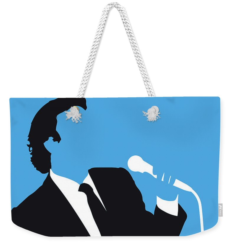 Julio Weekender Tote Bag featuring the digital art No279 My Julio Iglesias Minimal Music Poster by Chungkong Art