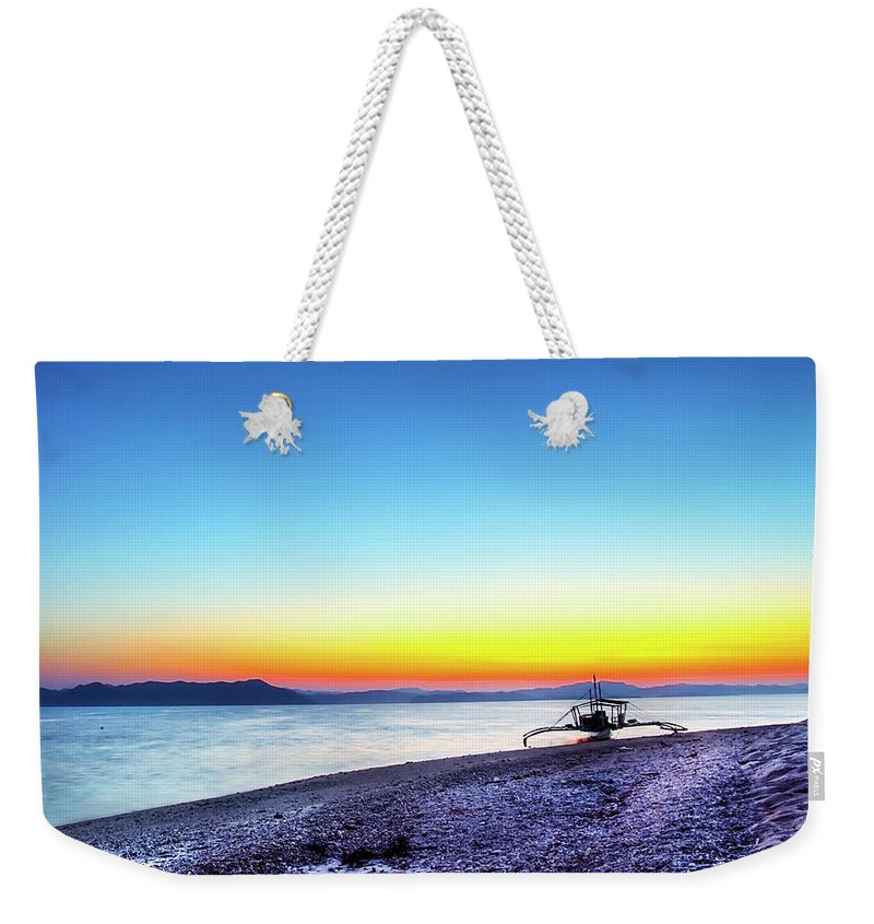 Water's Edge Weekender Tote Bag featuring the photograph North Cay Island, Palawan, Philippines by Tomasito!