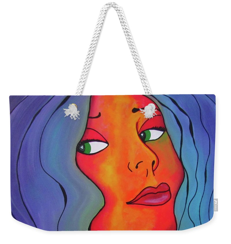 Nostalgia Weekender Tote Bag featuring the painting Nostalgia by Patricia Piotrak