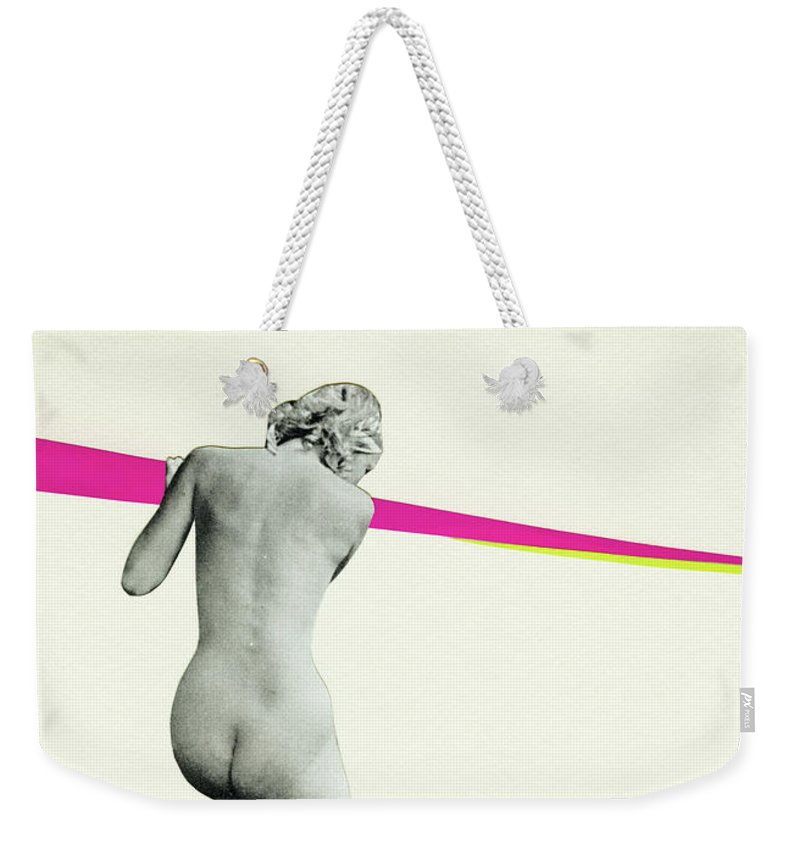 People Weekender Tote Bag featuring the mixed media Nowhere To Go by Cassia Beck