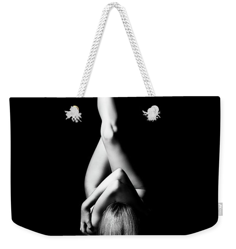 Woman Weekender Tote Bag featuring the photograph Nude Woman Bodyscape 1 by Johan Swanepoel