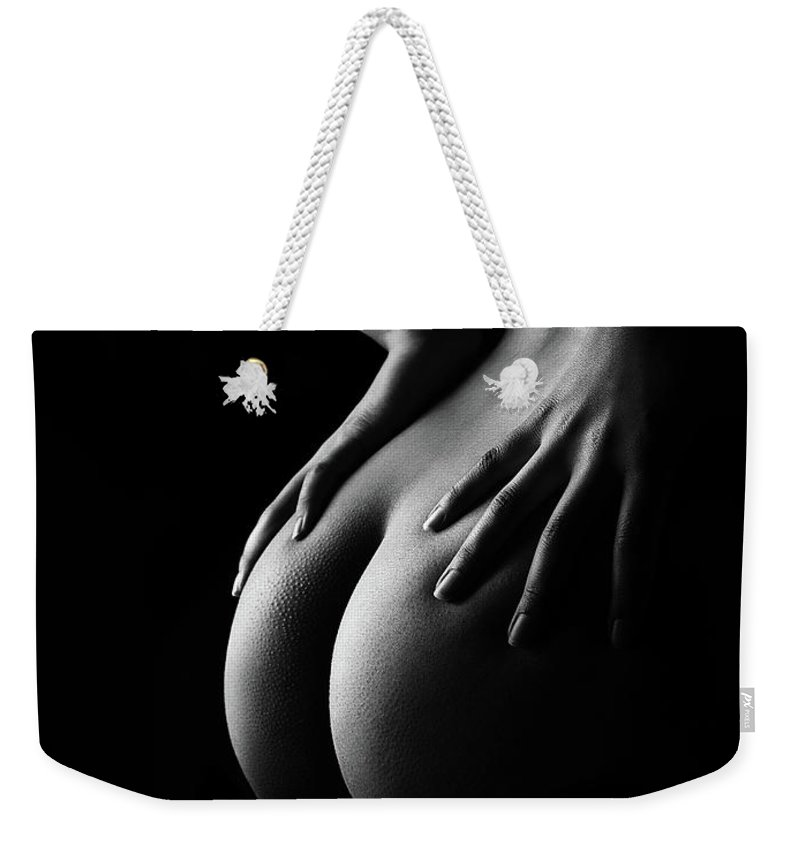 Woman Weekender Tote Bag featuring the photograph Nude Woman Bodyscape 39 by Johan Swanepoel