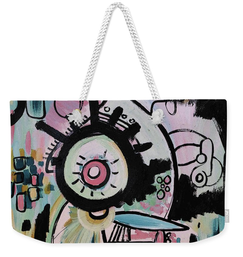 Abstract Weekender Tote Bag featuring the painting Obius by Jordan Harcourt-Hughes