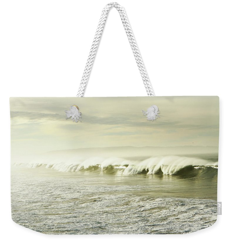 Pismo Beach Weekender Tote Bag featuring the photograph Ocean At Sunrise by Kevinruss