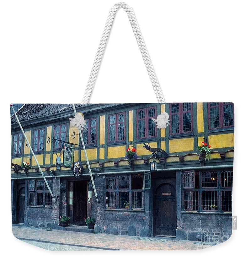 Restaurant Weekender Tote Bag featuring the photograph Odense Restaurant by Bob Phillips