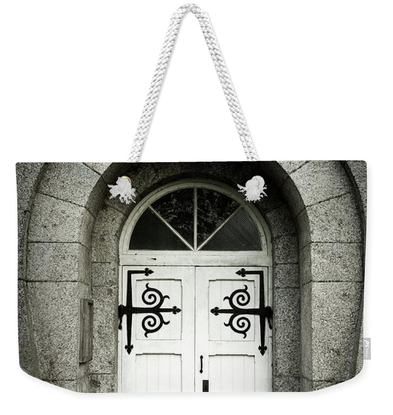 Arch Weekender Tote Bag featuring the photograph Old Entrance by Lordrunar