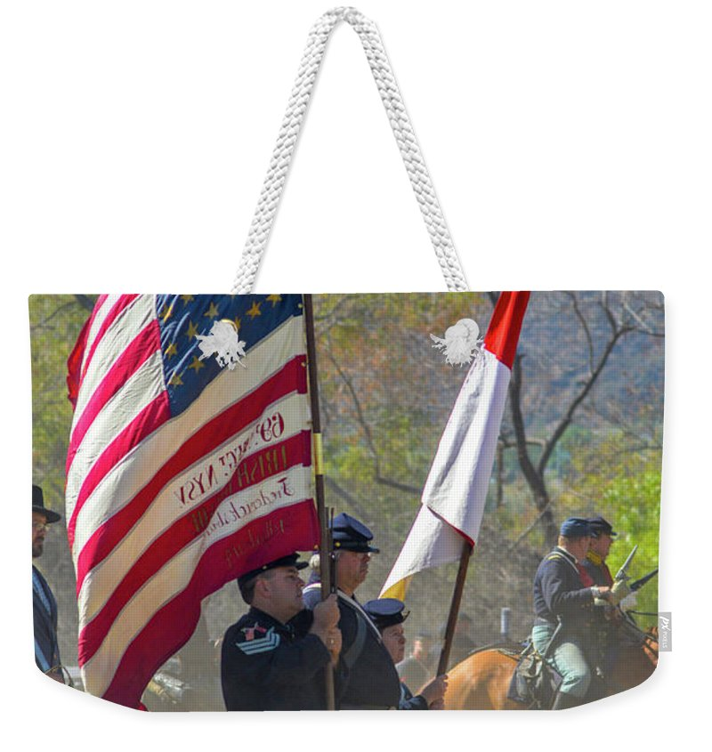 Union Weekender Tote Bag featuring the photograph Old Glory by Tommy Anderson