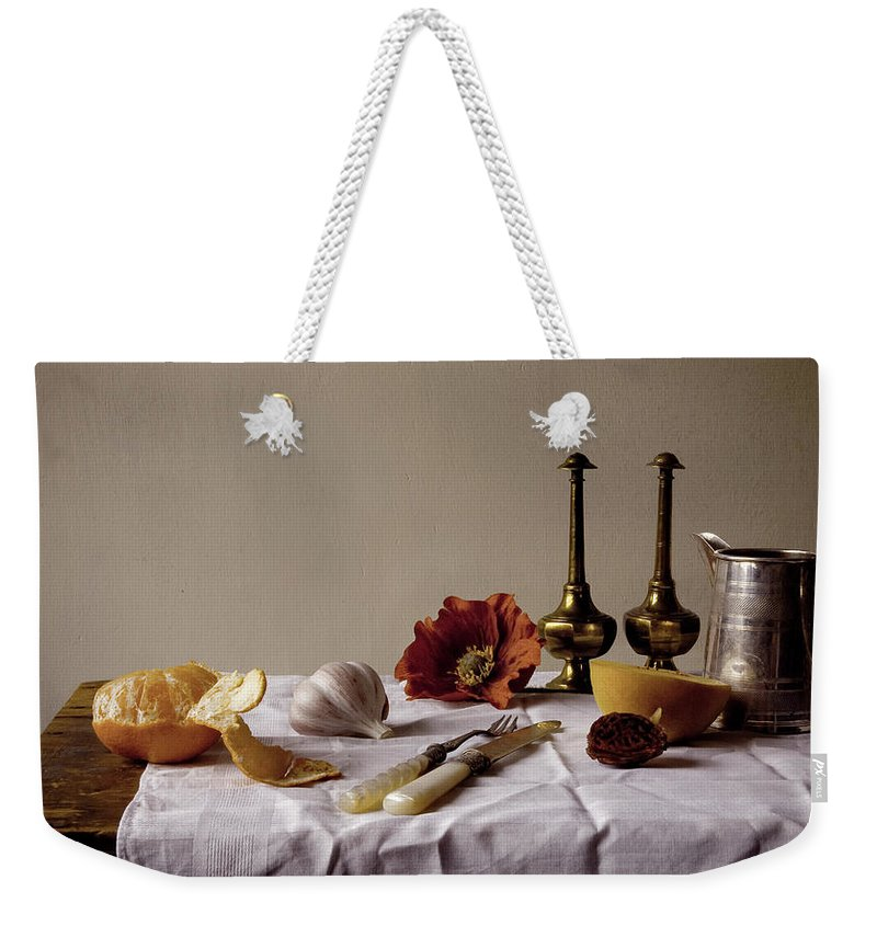 Orange Weekender Tote Bag featuring the photograph Old Kitchen Still Life by Pch