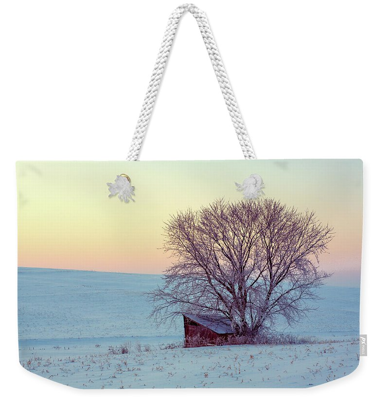 Leanto Weekender Tote Bag featuring the photograph Old Leanto by Todd Klassy