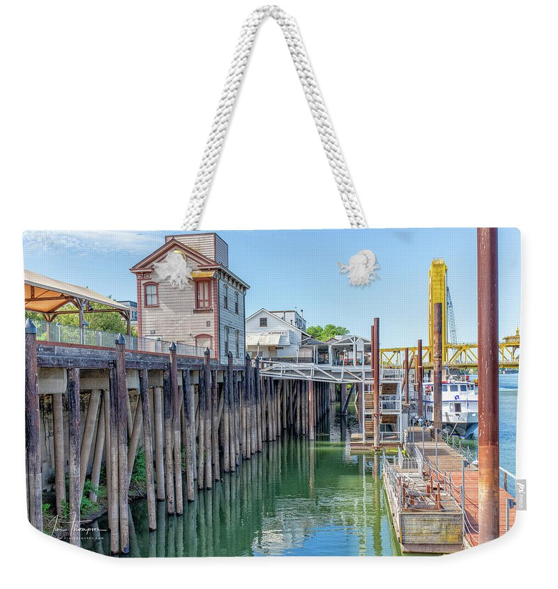 Old Town Sacramento Weekender Tote Bag featuring the photograph Old Sacramento Waterfront by Jim Thompson