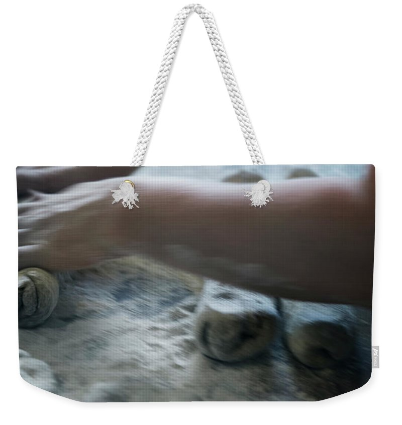 Working Weekender Tote Bag featuring the photograph One Person Baking Bread, Sweden by Koller, Lena
