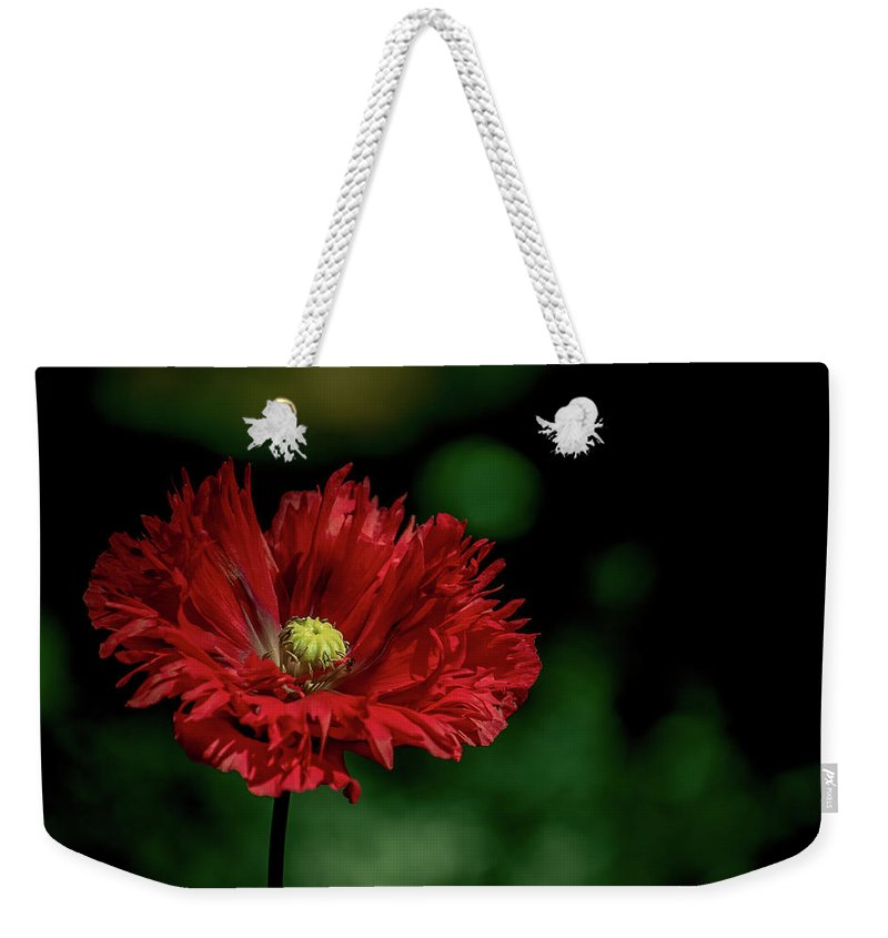 Opium Weekender Tote Bag featuring the photograph Opium Poppy by Valerie Kingston