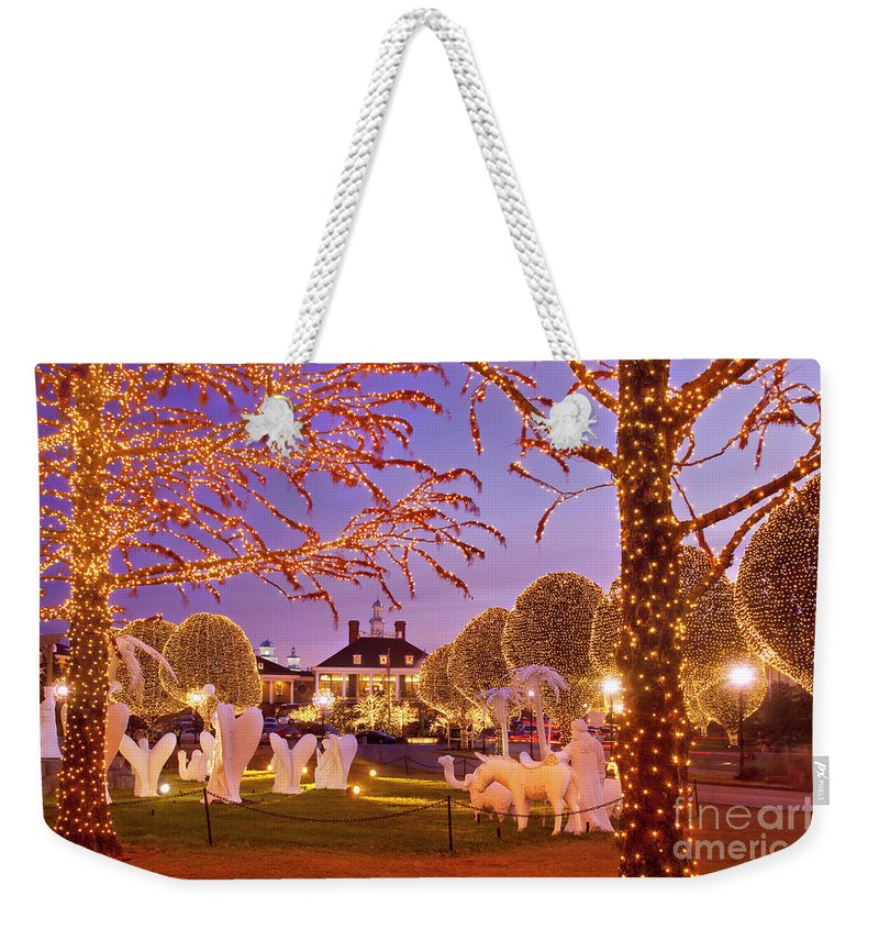 Christmas Weekender Tote Bag featuring the photograph Opryland Hotel Christmas by Brian Jannsen