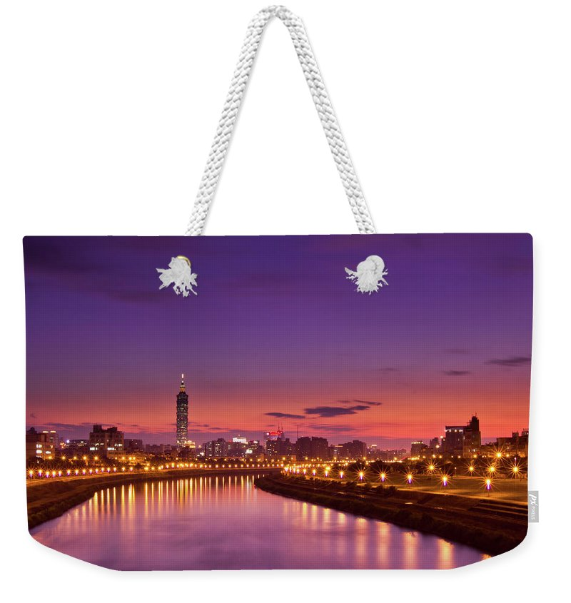 Orange Color Weekender Tote Bag featuring the photograph Orange Sunset by © Copyright 2011 Sharleen Chao