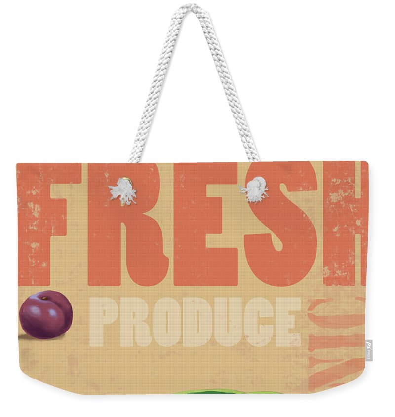 Part Of A Series Weekender Tote Bag featuring the digital art Organic Fresh Produce Poster by Don Bishop
