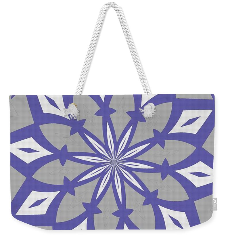 Grey Weekender Tote Bag featuring the painting Ornament Number 12 by Alex Caminker