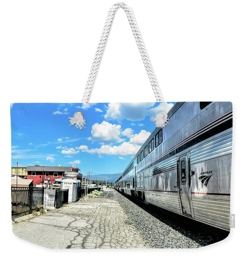 Joe Lach Weekender Tote Bag featuring the photograph Outbound From Truckee by Joe Lach