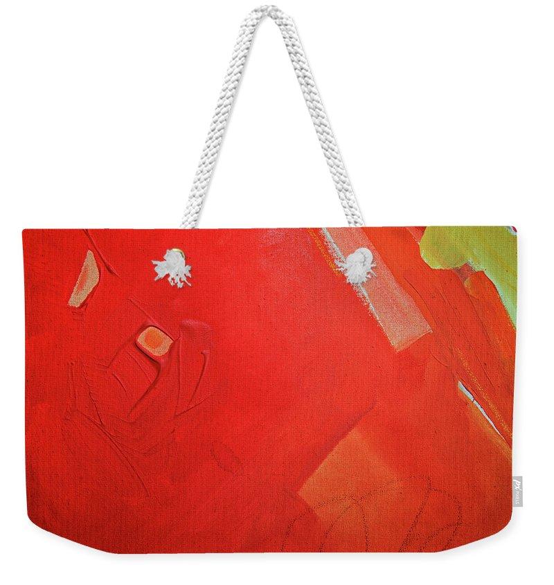 Gouache Weekender Tote Bag featuring the digital art Painting On Canvas by Petekarici