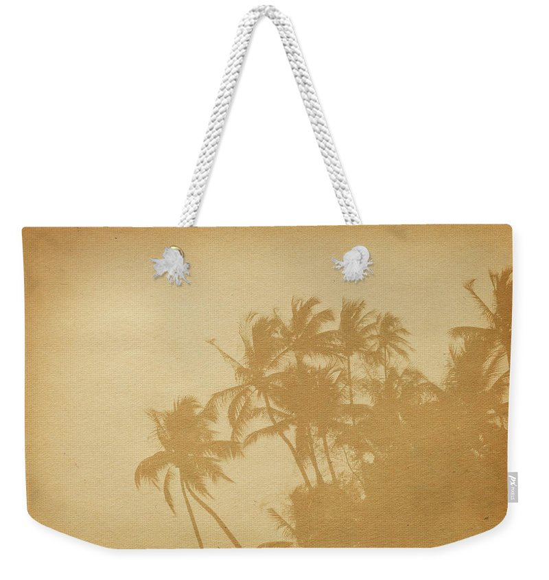 Aging Process Weekender Tote Bag featuring the photograph Palm Paper by Nic taylor
