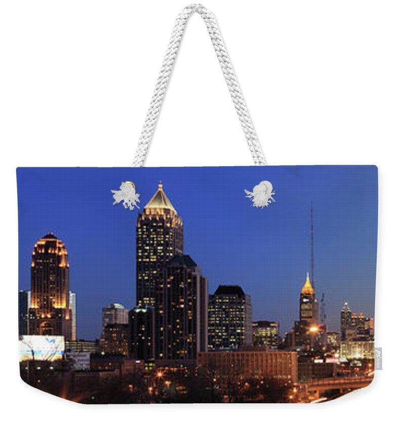 Atlanta Weekender Tote Bag featuring the photograph Panorama Of Atlanta, Georgia by Jumper