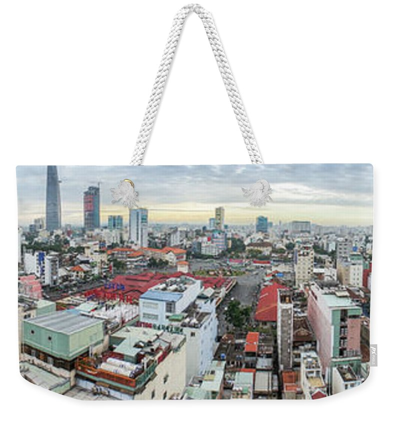 Ho Chi Minh City Weekender Tote Bag featuring the photograph Panorama Of Ho Chi Minh City by By Thomas Gasienica