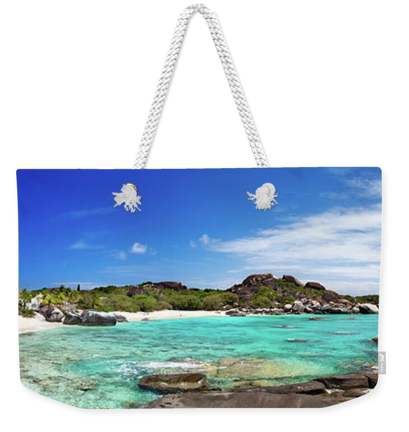 Scenics Weekender Tote Bag featuring the photograph Panorama Of Spring Bay And The Baths by Cdwheatley