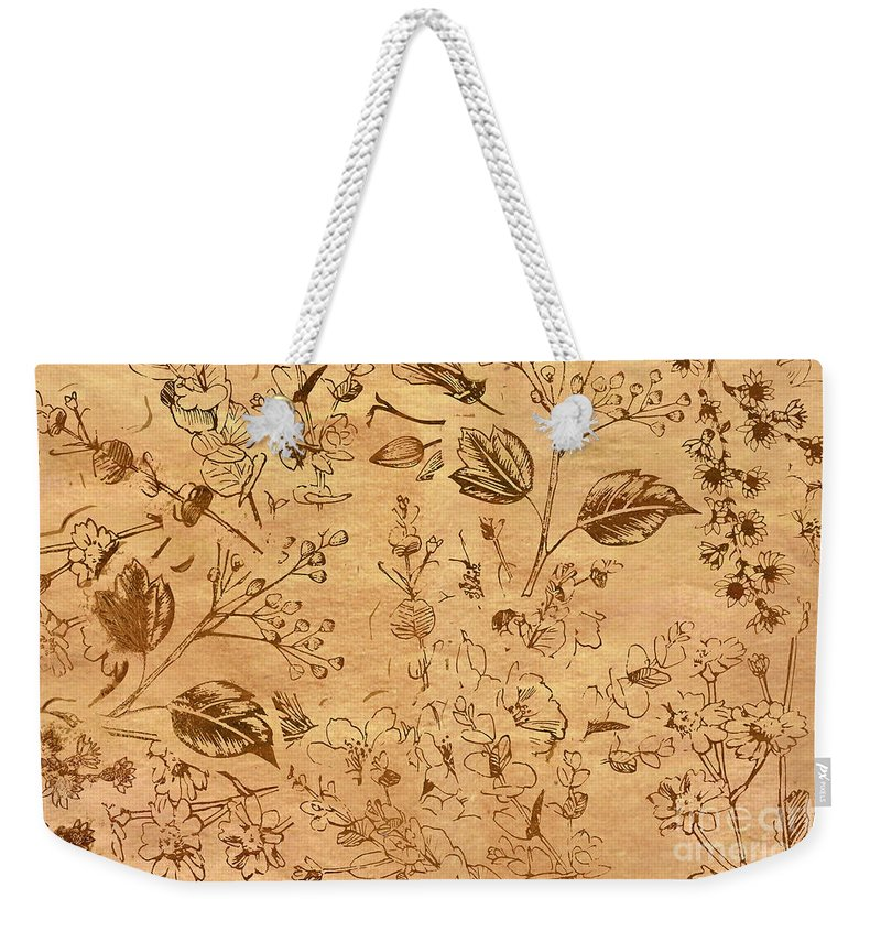 Pattern Weekender Tote Bag featuring the photograph Paper Petal Patterns by Jorgo Photography - Wall Art Gallery