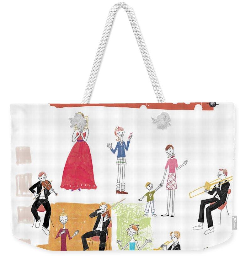 People Weekender Tote Bag featuring the digital art Party Image by Daj