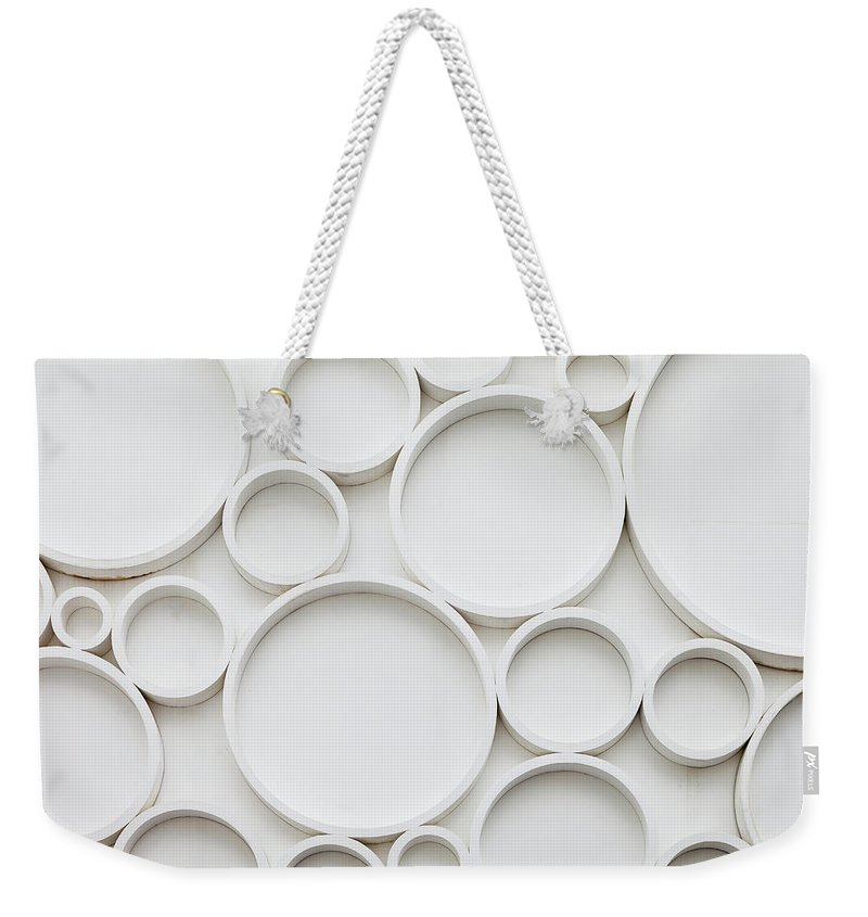 Roman Weekender Tote Bag featuring the photograph Pattern Of Wall by Busakorn Pongparnit