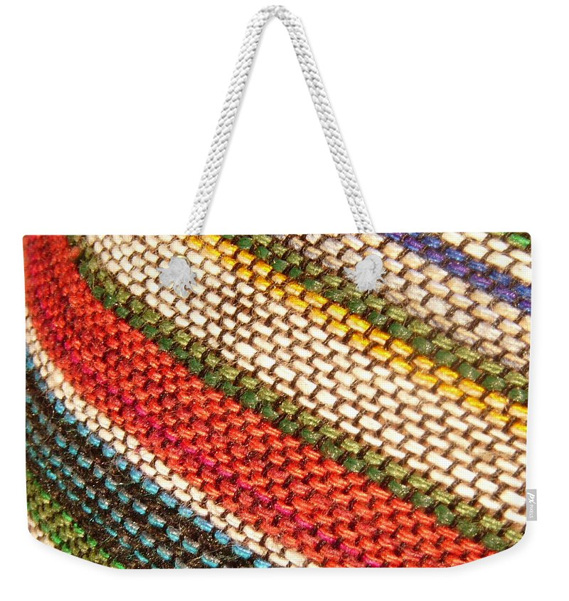 Art Weekender Tote Bag featuring the photograph Peruvian Fabric Art by Images By Luis Otavio Machado