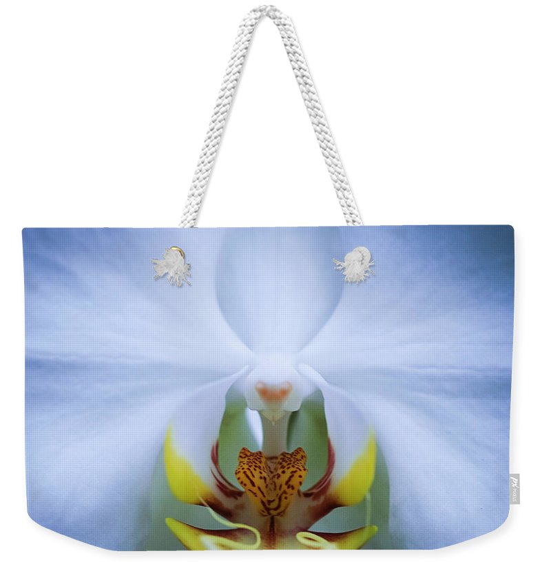 Outdoors Weekender Tote Bag featuring the photograph Phalaenopsis Orchid by By Ken Ilio