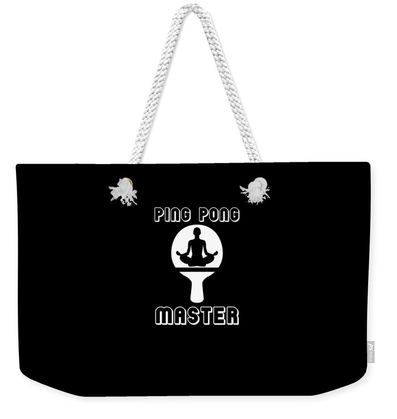 Cute-ping-pong Weekender Tote Bag featuring the digital art Ping Pong Master Great Table Tennis by The Perfect Presents