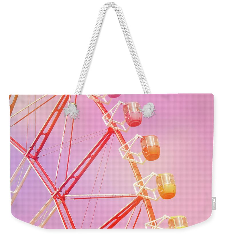 Carnival Weekender Tote Bag featuring the photograph Pink Carnival by Delphimages Photo Creations