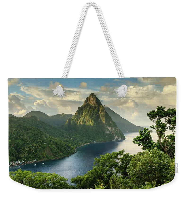 Nature Weekender Tote Bag featuring the photograph Piton View - Saint Lucia by Paul Baggaley