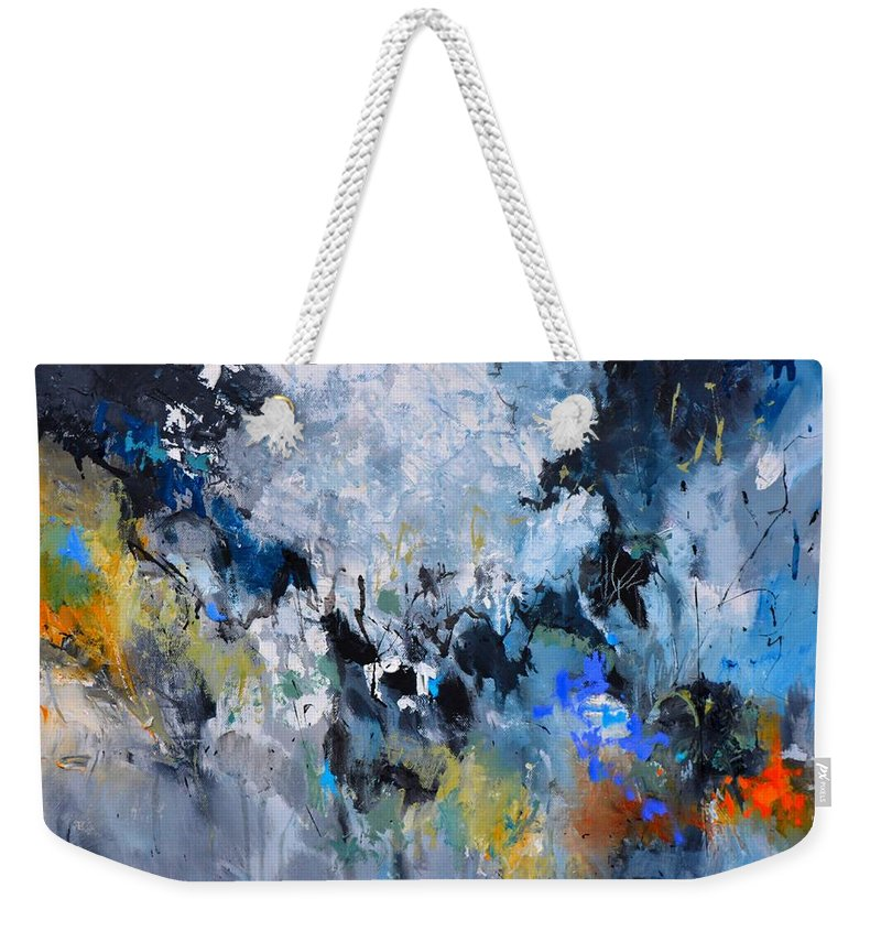Abstract Weekender Tote Bag featuring the painting Plato's Myth by Pol Ledent