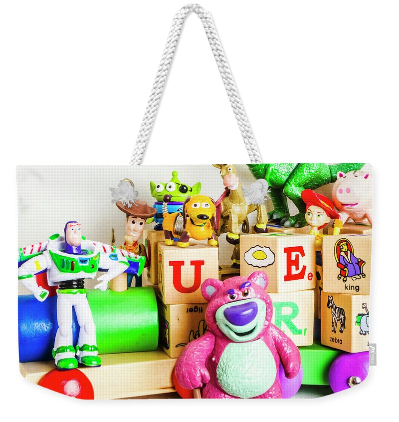 Story Weekender Tote Bag featuring the photograph Playtime Story by Jorgo Photography - Wall Art Gallery