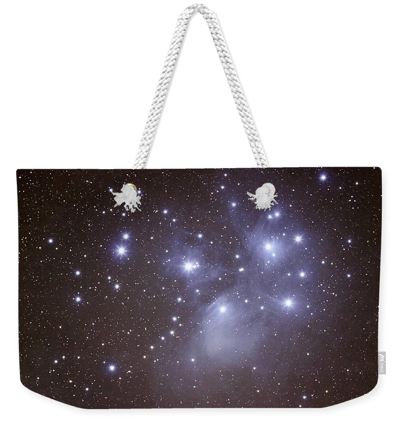 Majestic Weekender Tote Bag featuring the photograph Pleides by Pat Gaines