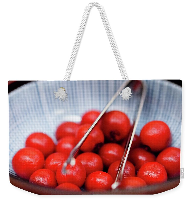 Plum Weekender Tote Bag featuring the photograph Plum by Kyle Lin