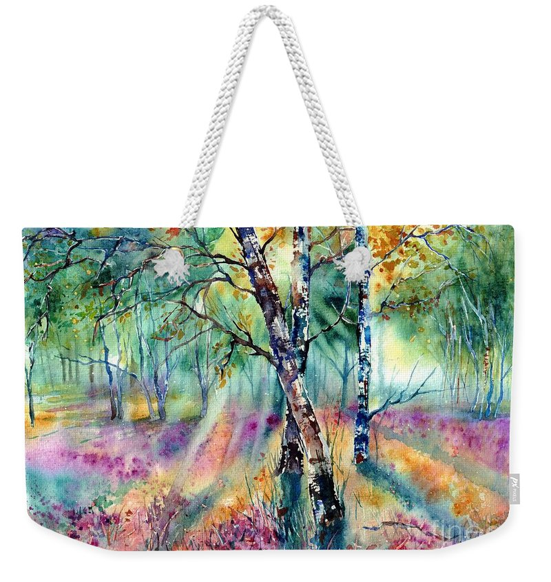 Summer Weekender Tote Bag featuring the painting Poetry Of Summer by Suzann Sines