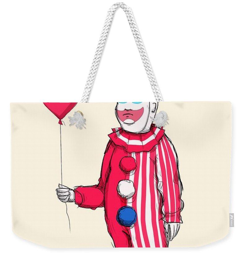 John Wayne Gacy Weekender Tote Bag featuring the drawing Pogo Hill by Ludwig Van Bacon