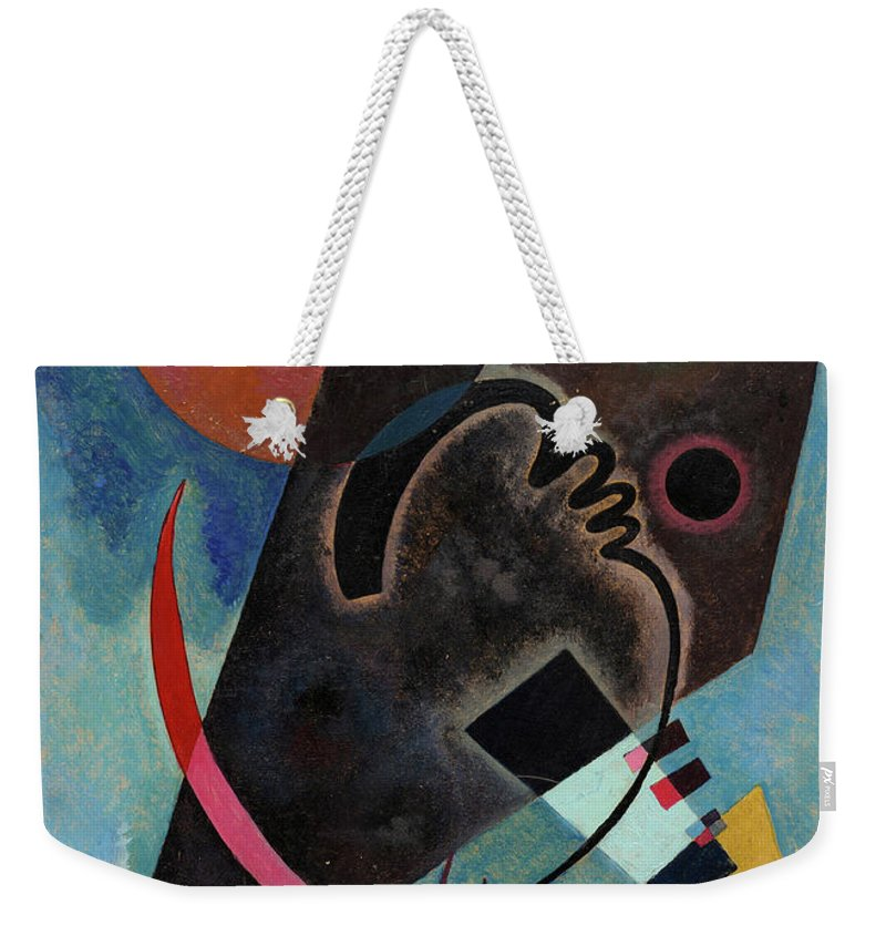 Kandinsky Pointed Weekender Tote Bag featuring the painting Pointed And Round - Spitz Und Rund by Wassily Kandinsky