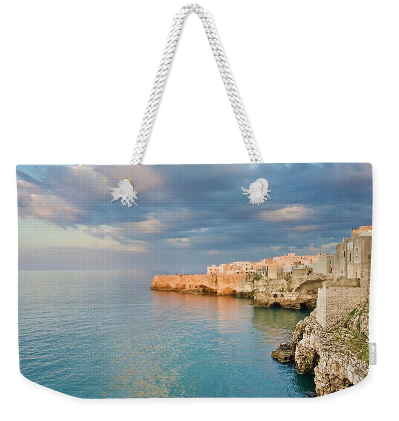 Adriatic Sea Weekender Tote Bag featuring the photograph Polignano A Mare On The Adriatic Sea by David Madison
