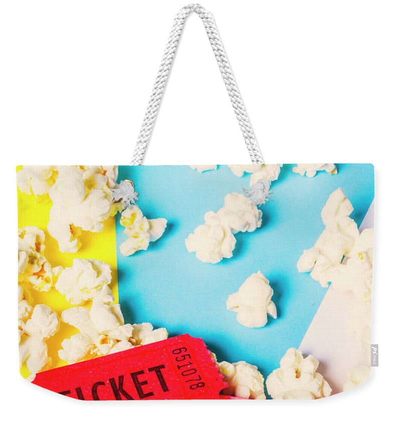 Film Weekender Tote Bag featuring the photograph Popcorn Culture by Jorgo Photography - Wall Art Gallery