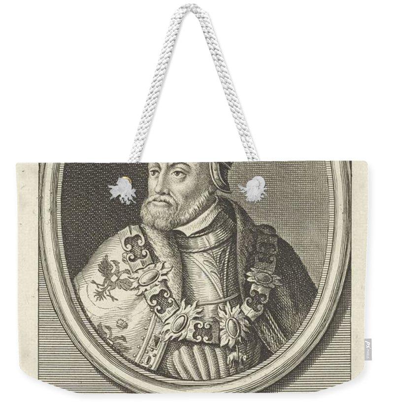 Emperor Weekender Tote Bag featuring the painting Portrait Of Charles V Of Habsburg, German Emperor, King Of Spain, Jan Punt, 1786 B by Jan Punt