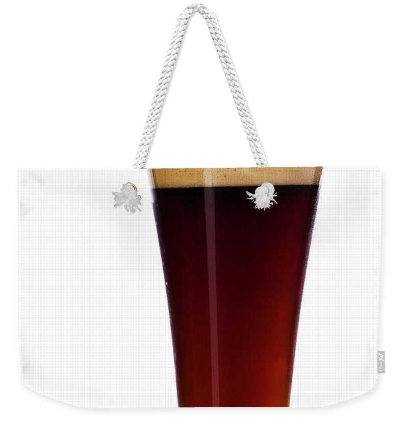 Stout Weekender Tote Bag featuring the photograph Pouring The Lager by Eli asenova
